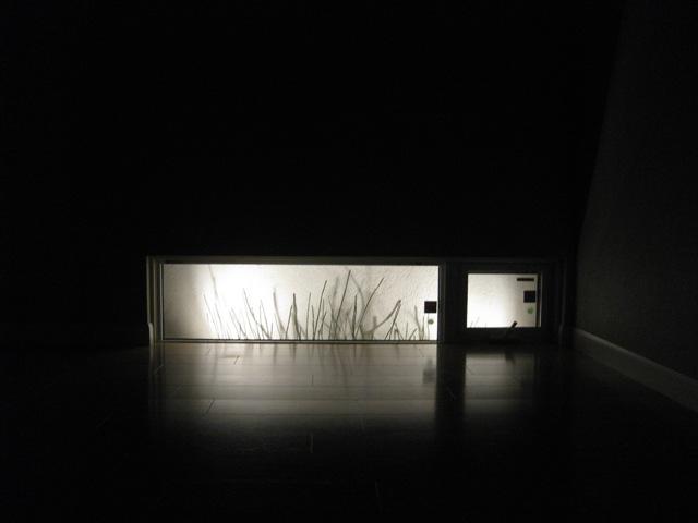 来客用のお部屋にある地窓